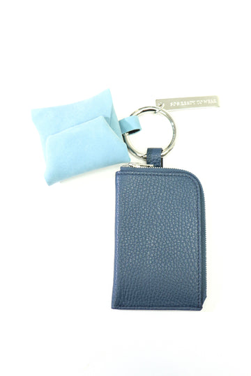 soe  Leather Key Ring(NAVY / SAX)