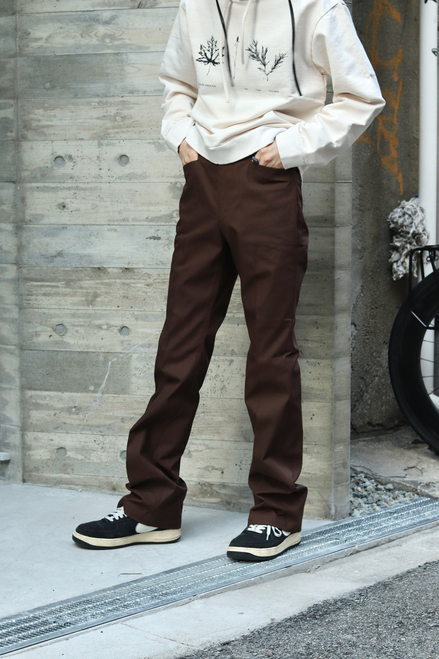 LITTLEBIG  T/C Bootscut Pants (White or Black or Brown)