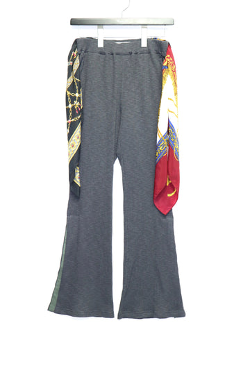 LENZ  SCARF PANTS(CHARCOAL)