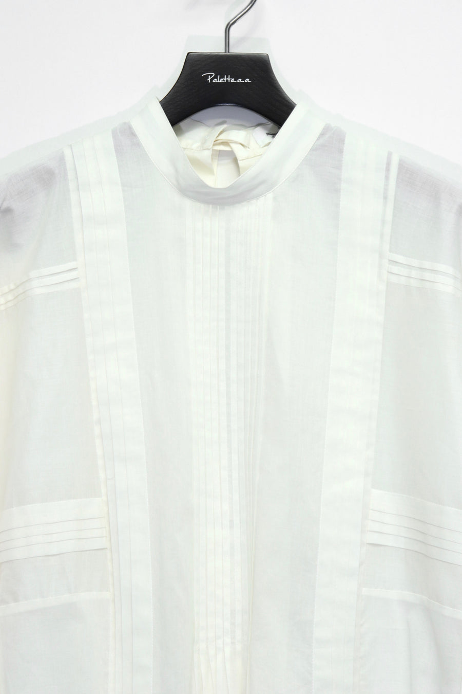LENZ  PIN TUCK SHIRT(WHITE)