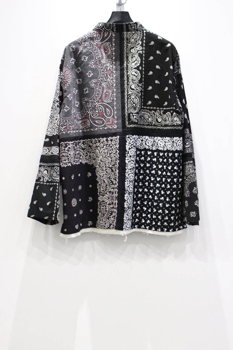 Children of the discordance  BANDANA PATCHWORK CONCHO JACKET(BLACK)