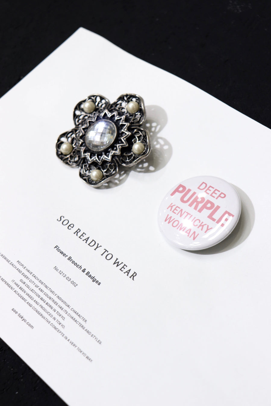 soe Flower Brooch & Badges(セット)