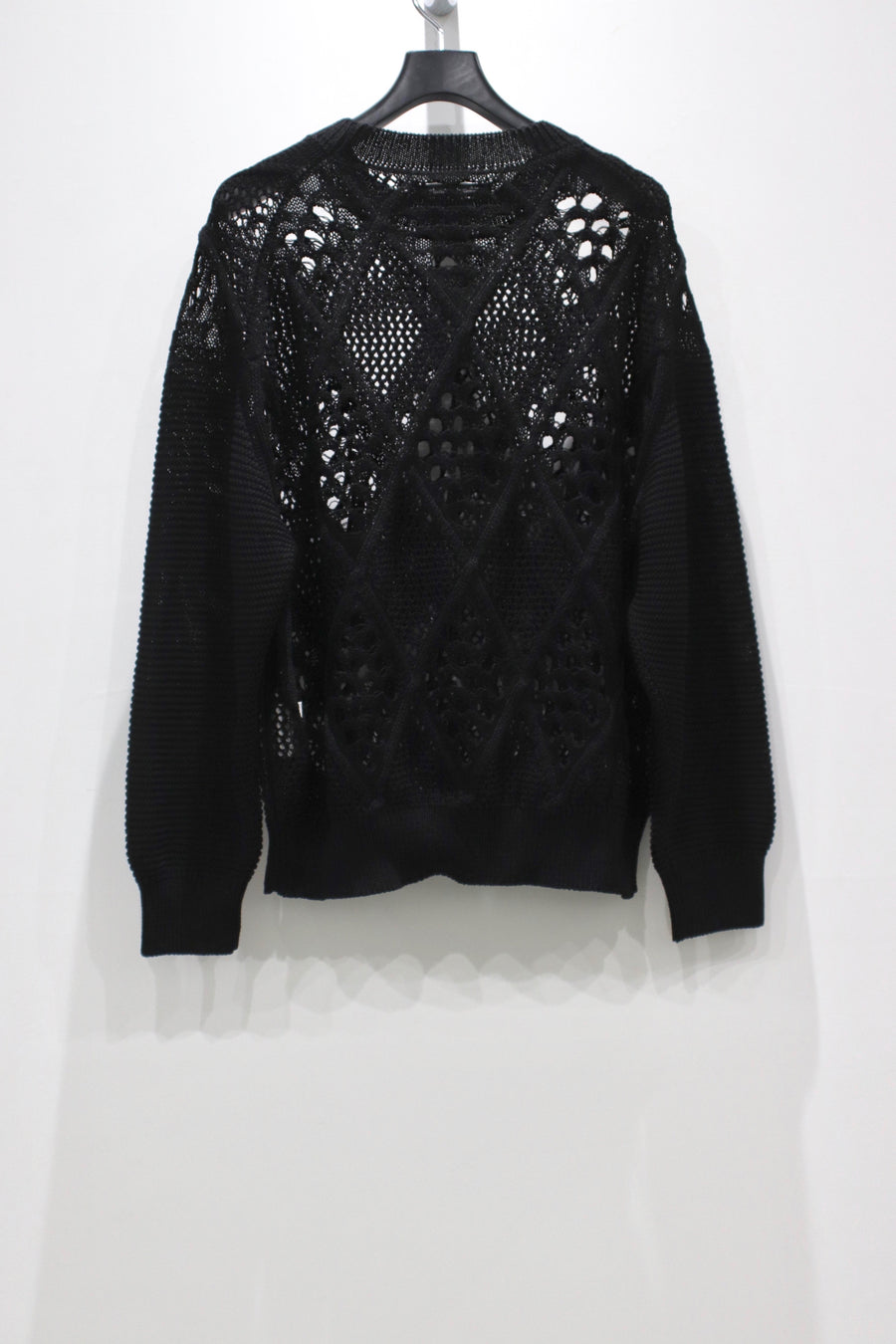 Children of the discordance  DIAMOND MESH KNIT PULLOVER(BLACK)