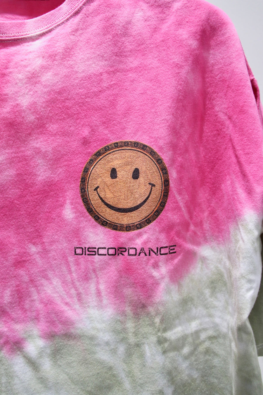 Children of the discordance  HAND DYEING AND PRINT TEE TYPE B-2(PINK)