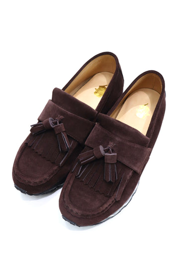 elephant TRIBAL fabrics  Tassel Loafer Air Sole × Tomo&Co(BROWN)