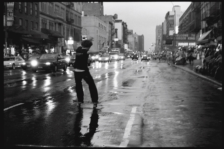 JOHN MASON SMITH × MIKE O'MEALLY L/S T-SHIRT (KERRY GETZ & JASON DULL,CANAL STREET IN THE RAIN)