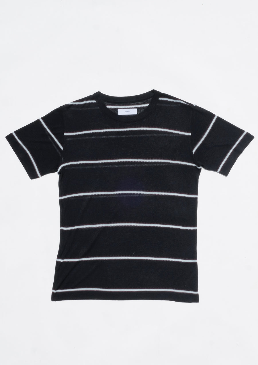 SUGARHILL  Silk Linen Striped Knit Tee