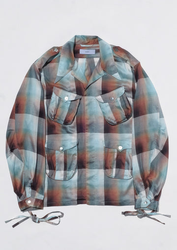 SUGARHILL  Ombre Panama Fatigue Shirt(GREEN)