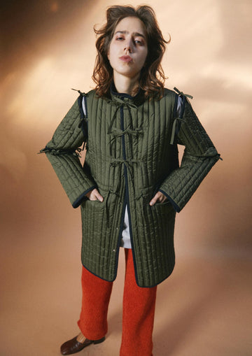 BELPER  STRINGS QUILTING COAT