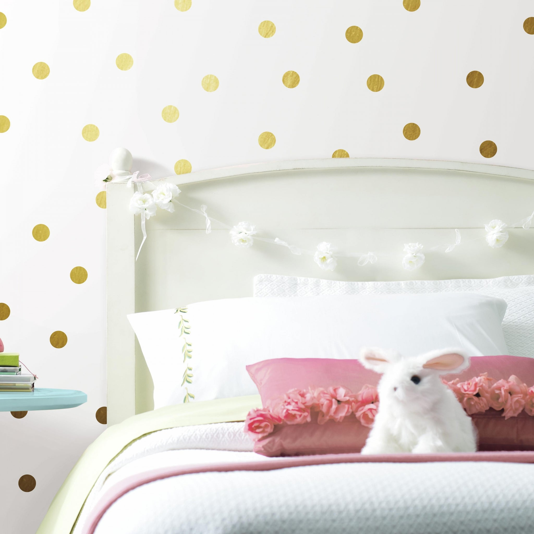 Muursticker Gold dots