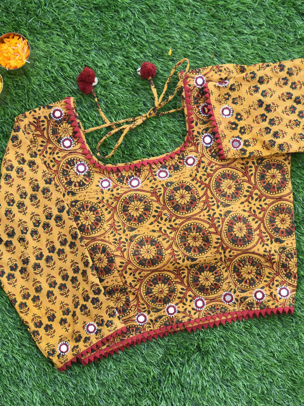 Kutch mirror work blouse