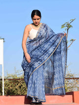 Bluebells Shibori Chanderi Silk Saree