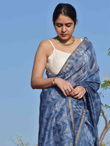 Shop Bluebells Shibori Chanderi Silk Saree online