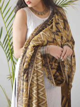 brown mul cotton dupatta