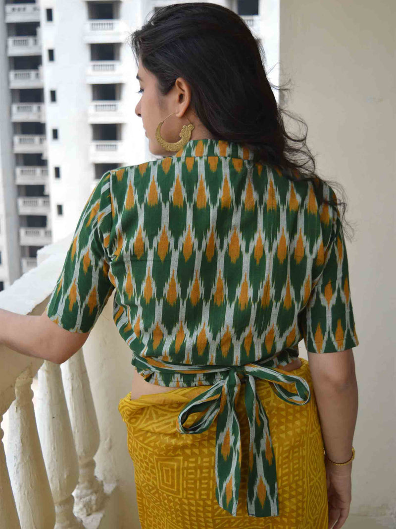 Ikat belt blouse