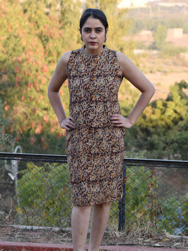 Eden -  Kalamkari Handblock printed sheath dress
