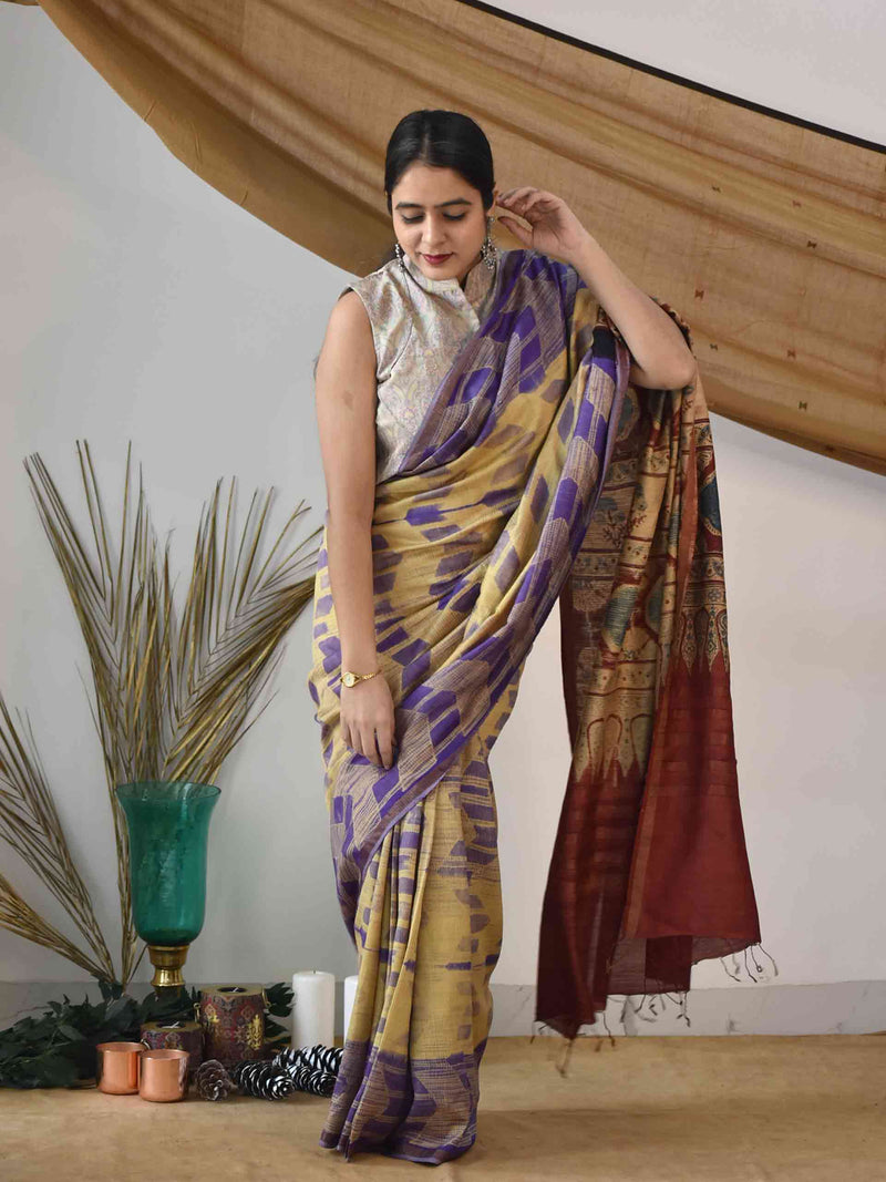 Buy shibori ajrakh saree