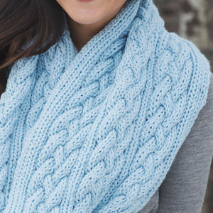 Braided Cables Scarf Knitting Pattern