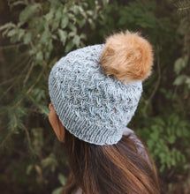 Load image into Gallery viewer, Fahreen Cabled Hat Knitting Pattern