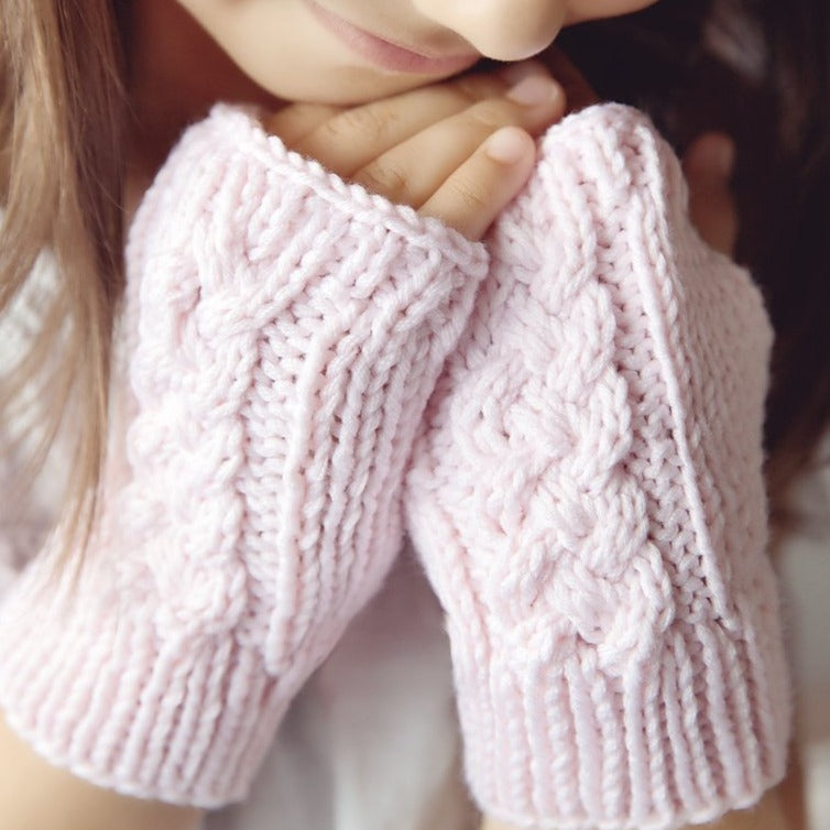 Cabled Fingerless Gloves Knitting Pattern