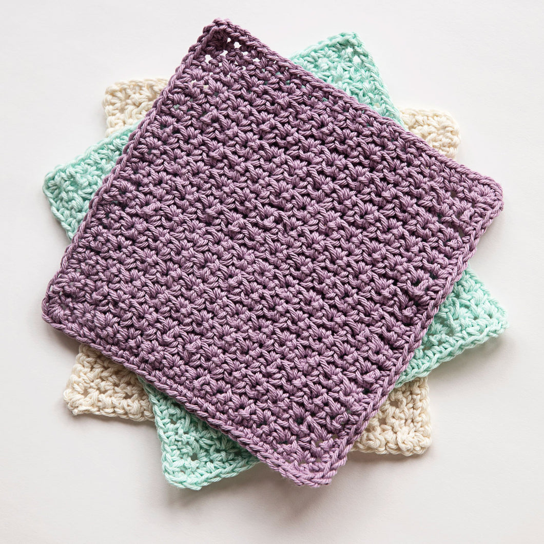 Lush Washcloths Crochet Pattern