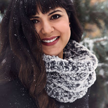 Load image into Gallery viewer, Luxurious Faux Fur Cowl Knitting Pattern