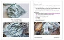 Load image into Gallery viewer, Zahira Cabled Hat Knitting Pattern