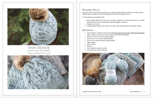 Shai Cabled Hat Knitting Pattern