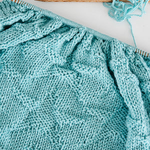 Starry Night Baby Blanket Knitting Pattern
