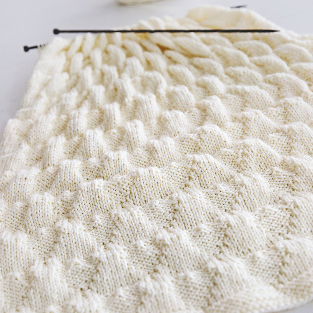 Sweethearts Baby Blanket Knitting Pattern