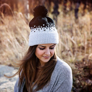 Ombre Double Brim Beanie Knitting Pattern