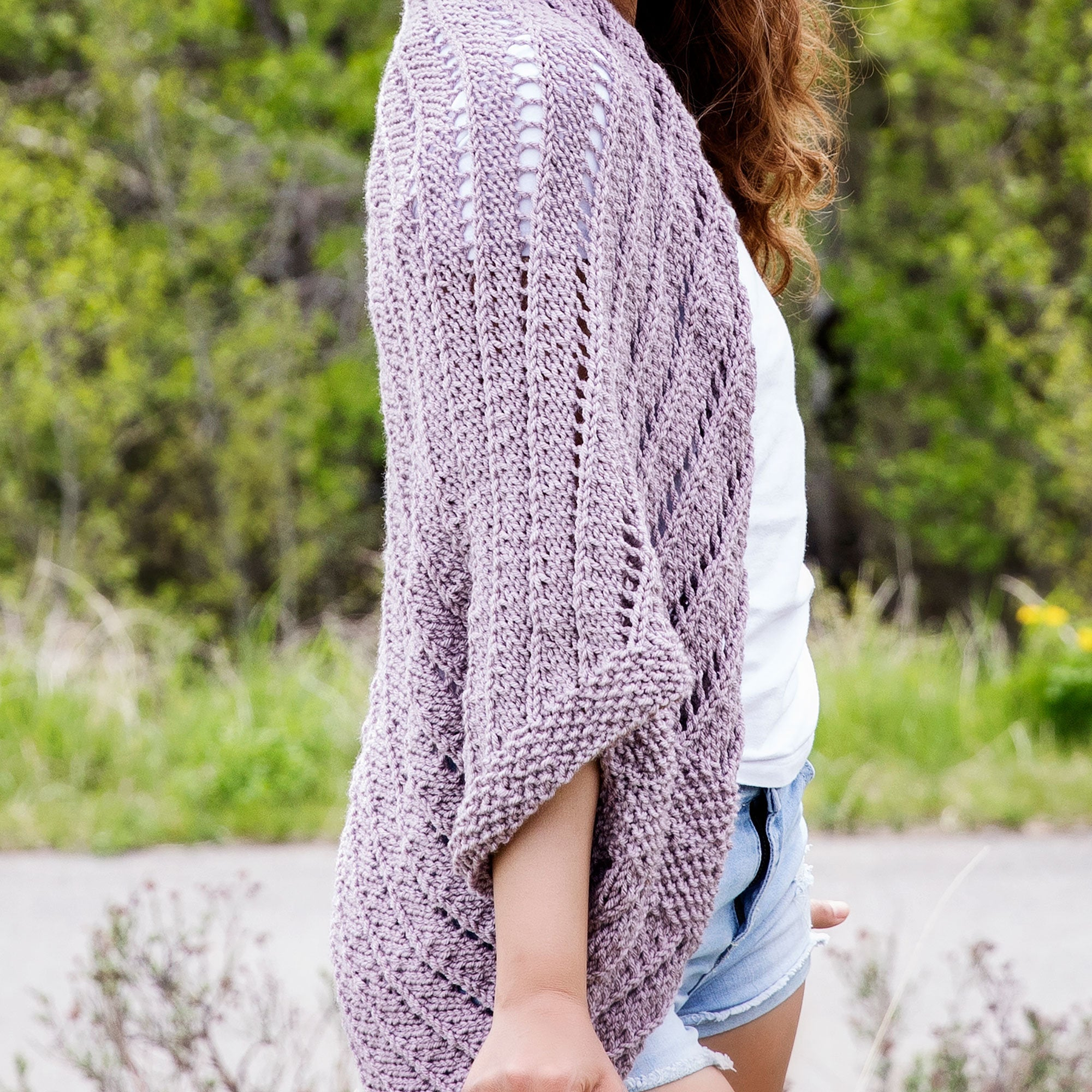 Summertime Cocoon Sweater Knitting Pattern