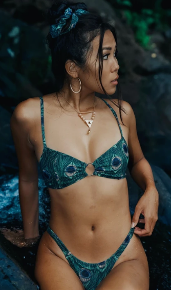 Coral X Tide Bottoms Peacock