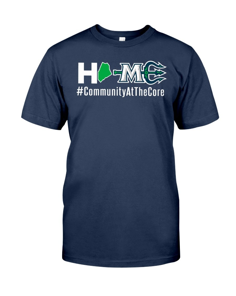 maine mariners home community at the core t shirt
