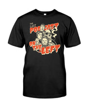 Load image into Gallery viewer, lastpodcastontheleft merch shirt