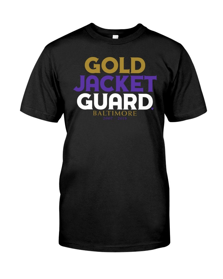 gold jacket guard t shirt
