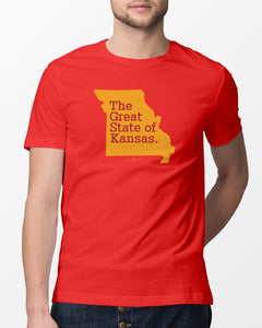 the great state of kansas t shirt