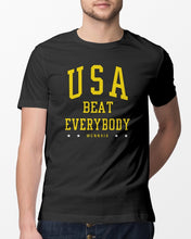 Load image into Gallery viewer, uswnt usa beat everybody t shirt