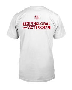 marooned clothing think global act local t shirt