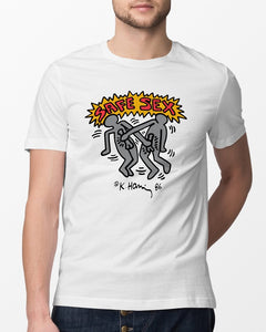 keith haring safe sex shirt