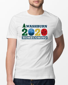 washburn homecoming 2020 logo t shirt