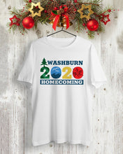 Load image into Gallery viewer, washburn homecoming 2020 logo t shirt