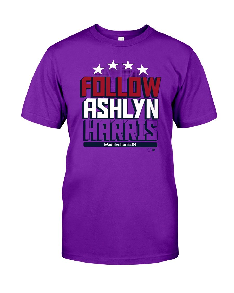 follow ashlyn harris t shirt