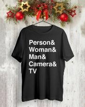 Load image into Gallery viewer, person woman man camera tv t shirt