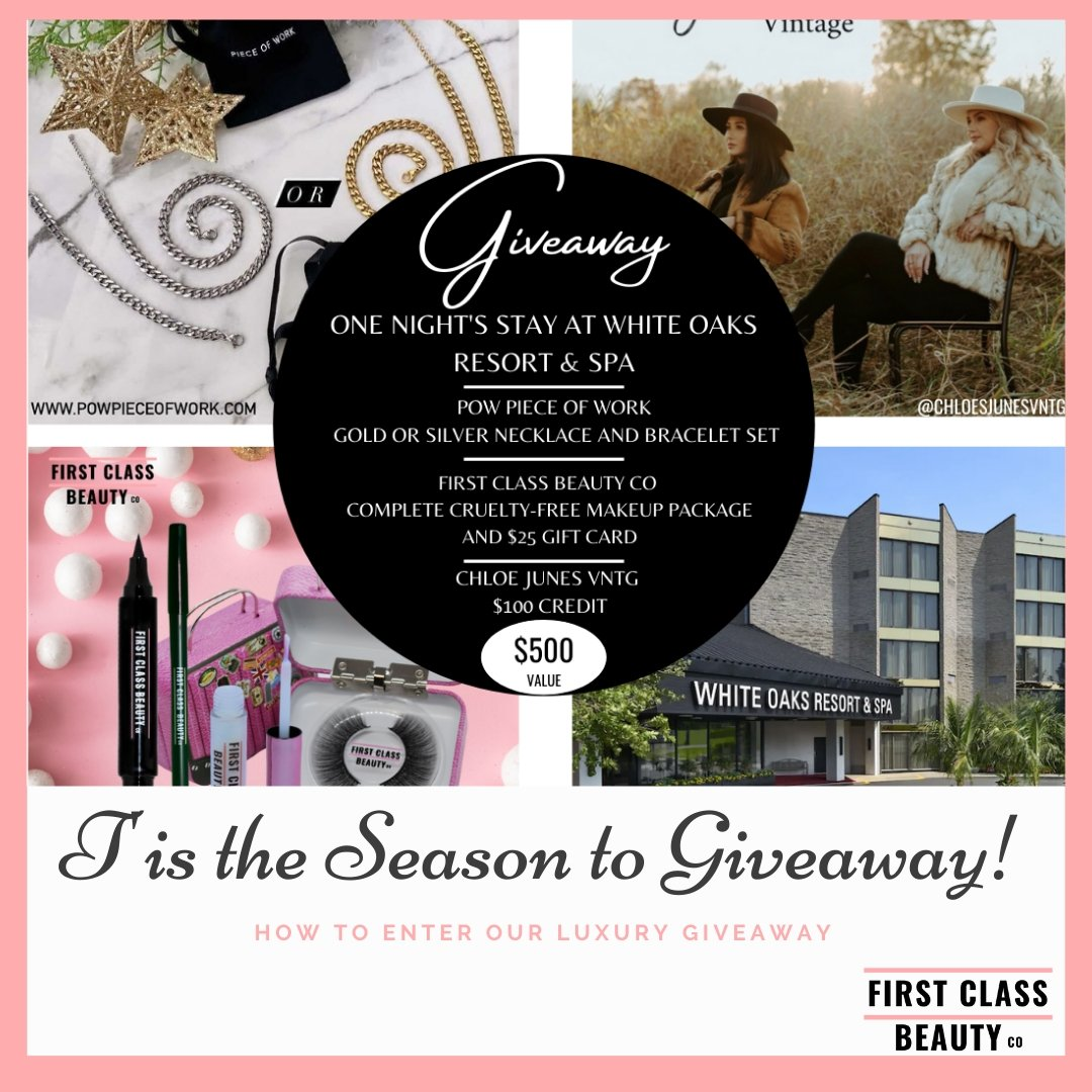 Tis' The Season To Giveaway! | First Class Beauty Co