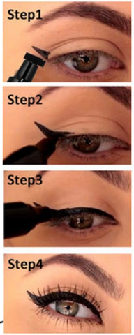how to do winged eyeliner for beginners
