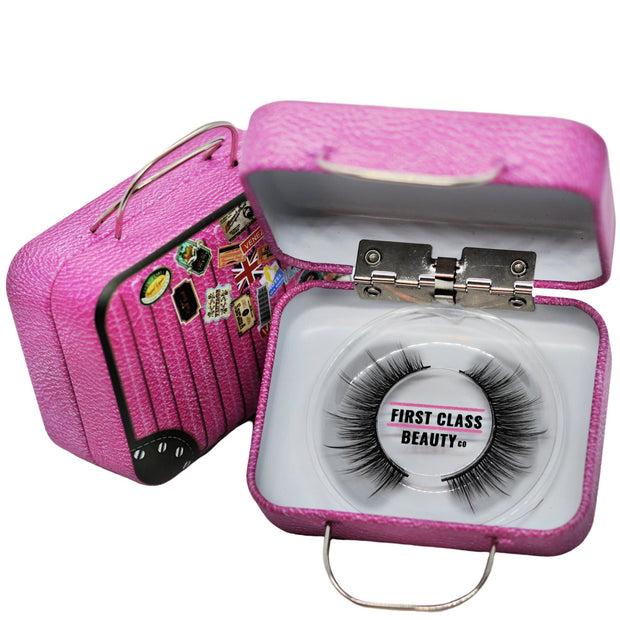 custom sized natural handmade wispy lashes by first class beauty co