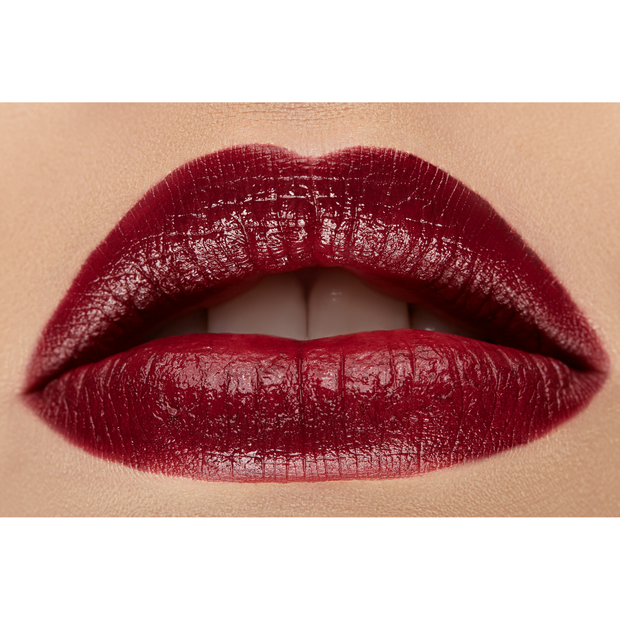 deep dark red creamy lip liner and lip stick by first class beauty co first class lips