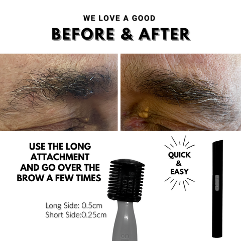 how to trim your eyebrows before and after eyebrow trimmer first class beauty co