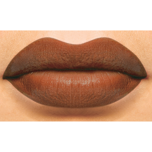 brown lip liner and brown lipstick in shade edith by first class beauty co